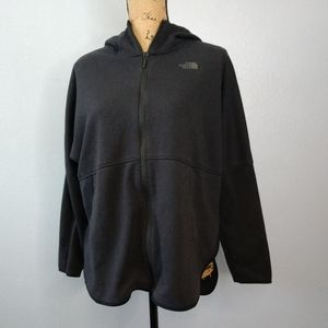 North Face Black Full Zip Hoodie Athletic Layered